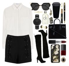 Untitled #594 by clary94 on Polyvore featuring polyvore, T By Alexander Wang, Boohoo, Stuart Weitzman, Yves Saint Laurent, Daniel Wellington, House of Harlow 1960, Chanel, Luv Aj, Sydney Evan, Dolce&Gabbana, Fendi, MAC Cosmetics, Calvin Klein, NARS Cosmetics, Parker, fashion, style and clothing