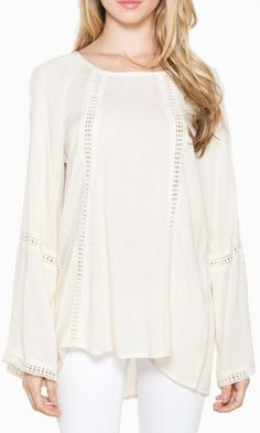 Changing Winds Blouse in Cream