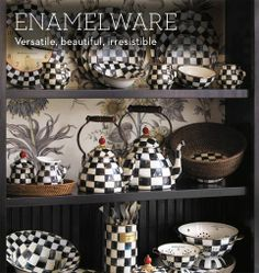 Love my Courtly Check enamelware plates and accessories.  I want the whole collection!