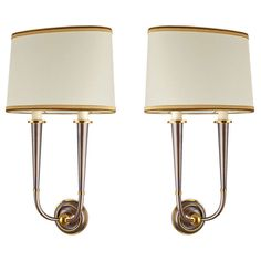 1stdibs.com | Pair of Tall Tapered Genet Michon Sconces