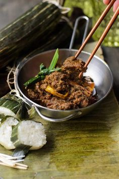 Beef is cooked to perfection tender with full flavour of spices. Beef is cooked to perfection tender with full flavour of spices. Curry Recipes, Meat Recipes, Indian Food Recipes, Asian Recipes, Dinner Recipes, Ethnic Recipes, Rice Recipes, Beef Rendang Recipe, A Food