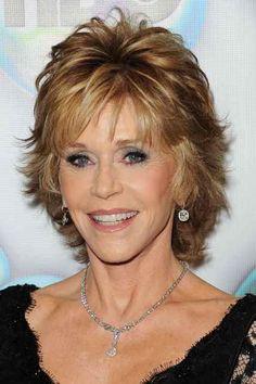 short layered hairstyles over 50 jane fonda - - Yahoo Image Search Results Jane Fonda Hairstyles, Short Shag Hairstyles, Haircuts For Fine Hair, Hairstyles Over 50, Feathered Hairstyles, Layered Haircuts, Straight Hairstyles, Short Haircuts, Cut Hairstyles