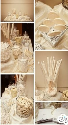 White wedding candy bar #whitewedding #candybar | Christen Jones Photography