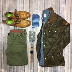 Rainy days are perfect for waxed cotton and brogue boots   #theamateurprofessional #peregrineclothing #katobrand #freenotecloth #oliversweeney #arrowandboard #wordnotebooks #sprezzabox