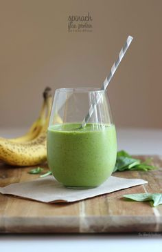 Spinach Flax Protein Smoothie - Top 10 Smoothies for Weight Loss Protein Smoothies, Smoothie Proteine, Green Smoothies, Spinach Smoothies, Pineapple Smoothies, Diabetic Smoothies, Power Smoothie, Avocado Smoothie, Healthy Protein Shakes