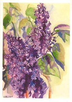 water color lilacs tattoo - Google Search