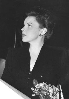 Judy Garland, before a special Command Performance Christmas broadcast.
