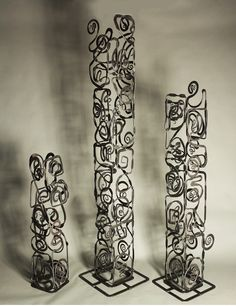 Hand forged iron sculptures by Christopher Thomson #forged_iron #sculpture