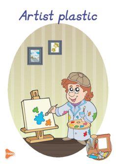Ilustrații cu meserii și ocupații Nursery Worksheets, Experiment, Bff Drawings, Teaching Materials, Kindergarten, Preschool, Projects To Try, Family Guy, School