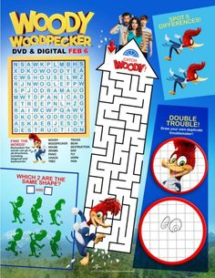 woody woodpecker printable activity page woody woodpecker free printable coloring pages free printables
