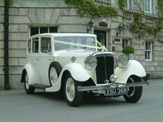 Vintage Daimler V 4 1/2 Wedding Vehicle  Ivory in colour, seat 6  View Full Fleet  www.facebook.com/cupidcarriages  www.cupidcarriages.co.uk
