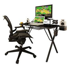 Computer Desk Gaming Table Furniture PC Game Console Storage Drawer Workstation #ModernHome