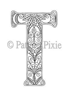 Welcome To My Range Of Alphabet Letters Colouring Pages These Are Hand Drawn For Adults