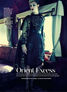 orient express: leah de wavrin by max cardelli for uk marie claire november 2012