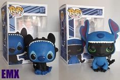 Stitch and Toothless themed handmade custom pop toy! (Made to order, ask me for a build time!) Stitch and Toothless themed handmade custom pop toy! (Made to order, ask me for a build time! Funko Pop Dolls, Funko Pop Figures, Vinyl Figures, Pop Figures Disney, Disney Pop, Cute Stitch, Lilo And Stitch, Tous Les Disney, Figurine Pop Disney