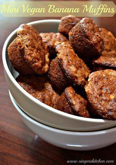 An Opera Singer in the Kitchen: Mini Vegan Banana Muffins