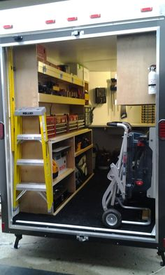 New Member: Just Outfitted My New Work Trailer - Vehicles - Contractor Talk E Monda Trailer Shelving, Van Shelving, Trailer Storage, Truck Storage, Work Trailer, Small Trailer, Trailer Build, Cargo Trailers, Utility Trailer