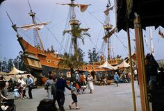 disneyland pirate ship (chicken of the sea) 1950's...I had many lunches there as a kid. Ah the memories!
