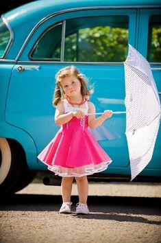 Personnalisé et fait main  enfants jupon robe rose/blanc