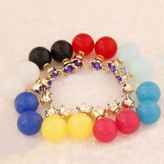 Jelly color #stud #earring, double faced, with resin & rhinestone, http://www.beads.us/product/Double-Faced-Stud-Earring_p277573.html?Utm_rid=194581