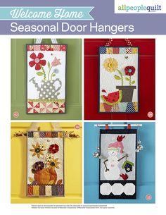 Welcome Home: Seasonal Door Hangers @apqmagazine #wallhangings *pattern to buy!