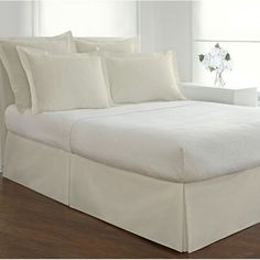 Alwyn Home Sleep Box Spring Cover Ruffle Bedding, Linen Bedding, Bed Linens, Gray Comforter, Comforter Sets, Sleep Box, Box Spring Cover, Cal King Bedding, Red Pillows