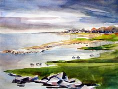 Paintings and Drawings: Brantevik from North