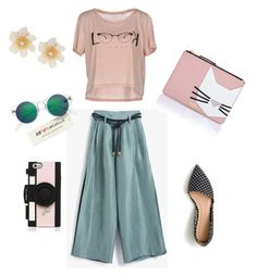 """Без названия #2"" by karina-simakova on Polyvore featuring мода, Delfina, J.Crew, ONLY, Karl Lagerfeld, H&M, Lydell NYC, Kate Spade, Summer и summerstyle"