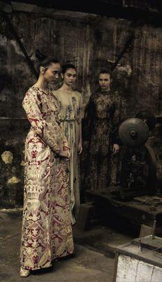 """Valentino Haute Couture"" by Deborah Turbeville for Vogue Italia"