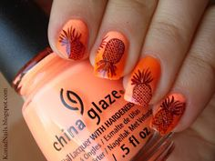 Pineapple manicure must try with just one nail decorated!