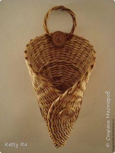 Поделка изделие Плетение Потрудилась я на славу Трубочки бумажные фото 6