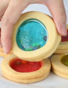 Aquarium Cookies -- Doesn't show in this picture, but these are ridiculously cool and a great idea to do with our kids or grandkids...  :o)