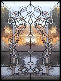 Home Improvement Ideas - Leaded Glass Windows Transoms Kitchen Bath and Stained Glass Door, Leaded Glass Windows, Stained Glass Designs, Stained Glass Panels, Stained Glass Projects, Stained Glass Patterns, Beveled Glass, Mosaic Glass, Art Nouveau