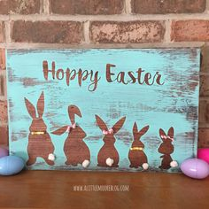 DIY Hoppy Easter Sign Tutorial - A Little Moore