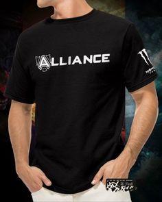 Dota 2 team Alliance t shirt game League of Legends short sleeve tee- Dota 2 T Shirt, Hannibal Season 2, Dota2 Heroes, Xxxl T Shirts, Cool Patterns, League Of Legends, Short Sleeve Tee, Game