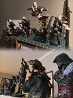 I want thissss so muchhh! Video Game Art, Video Games, Assassins Creed Game, Gaming, Action Figures, Assassin's Creed, Cool Stuff, Crossover, Sword