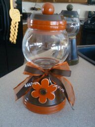 Customer order Gumball Style Candy Jar by RKAcreations on Etsy, $20.00