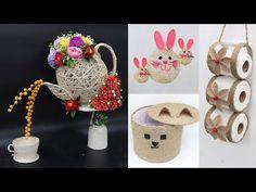 5 Jute craft ideas | Home decorating ideas handmade easy | 2021 - YouTube