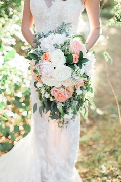Southern Garden Chic Wedding Inspiration, garden wedding bouquet