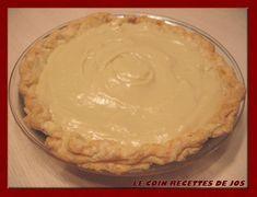 Le coin recettes de Jos: TARTE AUX POMMES ET SUCRE À LA CRÈME Oatmeal Cookie Recipes, Oatmeal Cookies, Pie Recipes, Healthy Recipes, Bon Dessert, Sweet Pie, Vegan Sweets, Biscuits, Deserts