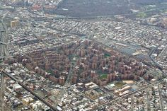 Parkchester, Bronx NY (the red buildings)