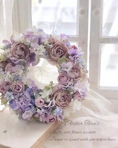 "To …- ""Pro-course student work, … - Modern Yellow Flower Arrangements, Christmas Flower Arrangements, Wreath Crafts, Diy Wreath, Big Flowers, Paper Flowers, Corona Floral, Deco Floral, Valentine Wreath"