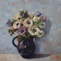 'Anemones in Black Jug' by Anne-marie Butlin