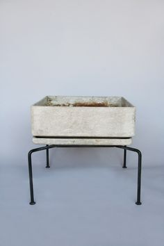 Bruno Rey, Cement and Metal Planter for Eternit, 1950s.