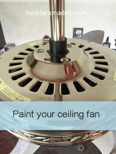 Paint Your Ceiling Fan Without Removing It From the Ceiling!!