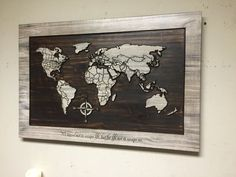 21 best merkecht images on pinterest world maps maps and wood travel wall decor quote sign for people that travel by howdyowl world map gumiabroncs Images