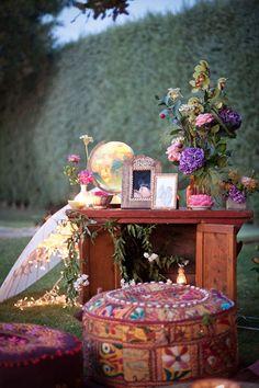 Agregale un poco de color - casamiento bohemio -