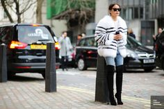 new concept aab33 2bd85 Miroslava Duma at London Fashion Week Fall 2014 Mode Skønhed, Kvindemode,  Miroslava Duma,