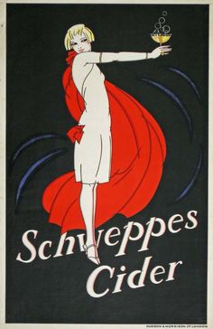 vintage Schweppes Cider poster