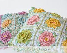 Dada's place: Japanese Flower Crochet Cushion